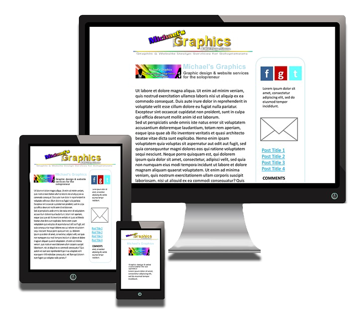 Mobile Ready Websites from Michael's Graphics